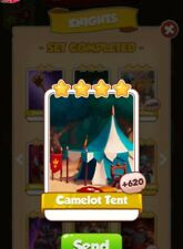 coin master cards  Camelot Tent  1X