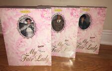 1995 Barbie My Fair lady Lot Of 2 Eliza Doolittle + Ken Henry Higgins New.