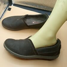 Merrell Coffee Bean Leather Slip On Comfort Shoes size 10