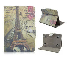 Universal Cover Case Etui f. 7 Zoll Tablet eBook Schutz Hülle Tasche Paris Tower