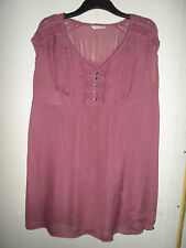 MARKS & SPENCER Indigo Collection Antique Rose Haut Ample Avec Caraco Taille 16
