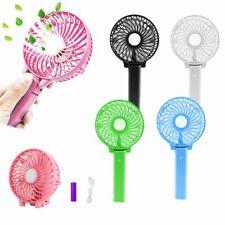 Portable Rechargeable Fan Mini Handy Fan Foldable Air Cooler USB & 18650 Battery