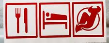 Eat, Sleep, NJ Devils vinyl decal