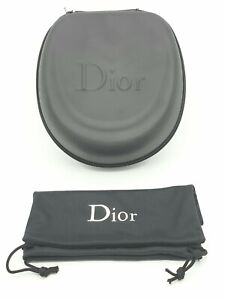 DIOR CD Zipped Black Case and Drawstring Pouch for SUNGLASSES / JEWELLERY - NEW