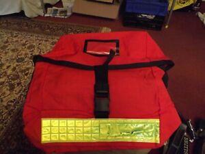 ROYAL MAIL RED SHOULDER BAG - large hi-viz red leaflet courier delivery post VGC