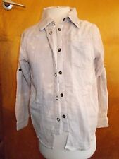 Mar Mar Jeans L/Sleeved 100%Cotton Marble Dye Shirt 6y 116cm Natural BNWT