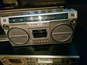 Sharp GF-4646 Stereo Cassette Portable Ghetto Blaster Boombox Recorder 1980's