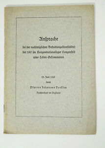 Ansprache KZ Lengenfeld Pfarrer Johannes Derksen 1945 (H7