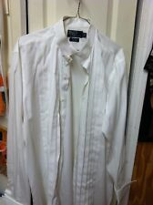 MEN'S WHITE FORMAL SHIRT BY RALPH LAUREN- FRENCH CUFFS FORMAL CLASSIC FIT 16-33