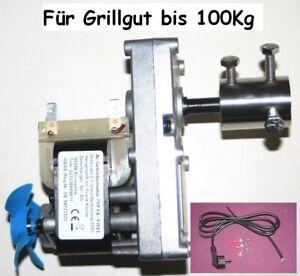 BBQ Motor 230V-AC Wechselstr Getriebemotor 2,1 U/min  bis 100 Kg Grillgut.