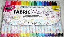 Tulip FABRIC MARKERS Fine Tip 20 Colors Permanent