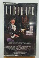 "LIBERACE ""Concert Favorites"" Cassette CBS Records #FMT42244 Circa 1986"
