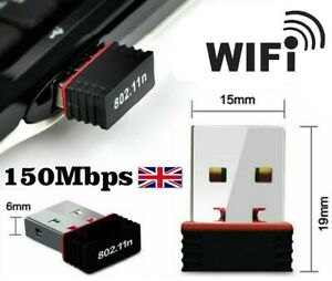 Wifi Mini Usb Adapter Wireless Dongle Adaptor 802.11 BGN Lan Network UK