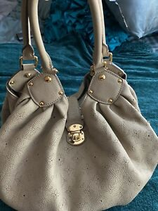 Authentic Louis Vuitton Large Mahina Taupe Tote