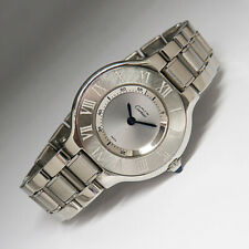 Cartier Must De Cartier 21 Donna Orologio Quarzo ref. 1340 in acciaio con scatola documenti U.