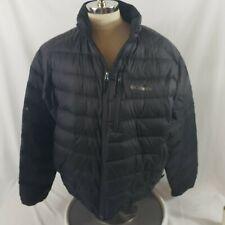 Columbia Black Onmi-Heat LightWeight 80% Duck Down Winter Jacket Sz XXL 2XL