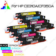 8PK CE310A - CE313A Color Toner Cartridge Set For HP 126A LaserJet Pro CP1025nw