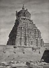 1928 Original Print INDIA Madura Temple Sculpture Architecture Photo HURLIMANN