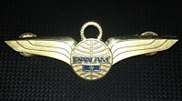 Vtg Crew PAN AM AIRLINES Supervisory Flight Engineer 1 Star WINGS PIN PAA Badge