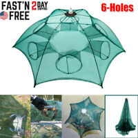 NEW Fishing Bait Trap Crab Net Crawdad Shrimp Cast Dip Cage Fish Minnow Foldable