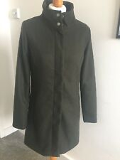Women's Coat ONLY Wool Green Olive Long Military Jacket Lined Parka Small 50%Off