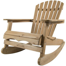Woodside Rocking Adirondack Chair Outdoor Wooden Garden Patio Furniture