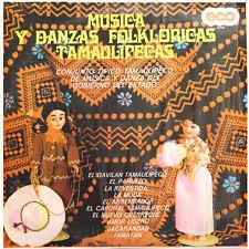 CONJUNTO TIPICO TAMAULIPECO Musica Y Danzas MEX Press Eco 25763 1979 LP