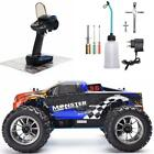 RC Car 1:10 Scale Two Speed Off Road Monster Truck Nitro Gas Power 4wd Remote