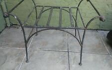 Vintage Cast Iron Metal Side Console Coffee Country Table Side Handles