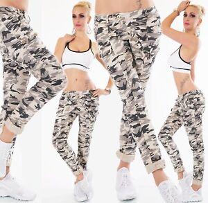 Hanche Pantalon Jeans Baggy Tubes Boyfriend Harem Camo Army Militaire Fret XS-XL