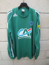 Maillot COUPE de FRANCE porté n°11 ADIDAS football shirt collection vert CA PMU