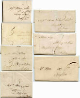 LONDON to BRIGHTON GB 1800-1808 EARLY TYPE FRAMED LOCAL OFFICE PMKS REC HOUSES