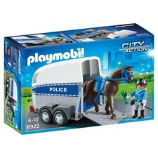 PLAYMOBIL Police With Horse and Trailer Pmb6922