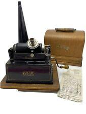1903 Thomas Edison Gem Cylinder Player Phonograph See Video