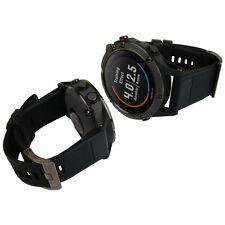 Skinomi Brushed Steel Skin+Clear Watch Screen Protector for Garmin Fenix 5