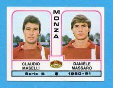 PANINI CALCIATORI 1980/81 - Figurina n.436- MASELLI+MASSARO-MONZA-NEW