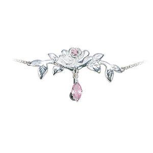 Women Waist Belly Chain Bikini Adjustable Flower Pink CZ