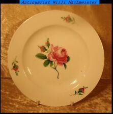 "Antiker Meissen Menue Teller ""Rote Rose"" Ø 24,5cm  Marke ab 1756"