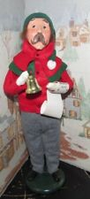 Byers Choice Caroler Man with Bell and Sheet Music 1990 *