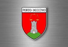 sticker adesivi adesivo stemma etichetta bandiera francia corsica porto vecchio