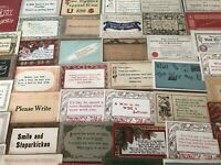 Lot of 40 VINTAGE old GREETING postcards ART CRAFTS Sayings MOTTO mottos-a925