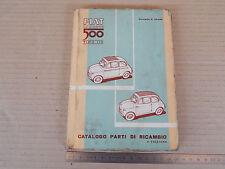 CATALOGO PARTI DI RICAMBIO ORIGINALE 1959 FIAT NUOVA 500 ANCHE SPORT