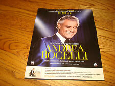 Andrea Bocelli 2017 Grammy ad for Traditional Pop Vocal Album & 20th Year ad