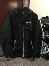Marmot Snowboarding Jacket Black Checkered Size S