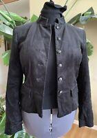 INC International Concepts Women's Corduroy Jacket Blazer Black Stretch Sz Small