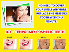 TEMPORARY TOOTH MISSING TEETH REPLACEMENT REPAIR FALSE DIY TEMP TOOTH