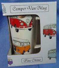 Volkswagen Camper Van Bus Mug Fine China VW Bug NIOB Leonardo of United Kingdom