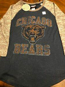 NFL CHICAGO BEARS Womens Size S Jersey Style Shirt Junk Food Vintage Feel NWT