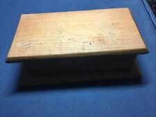Vintage Primitive Handmade Wooden Box