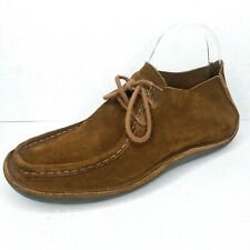 J Crew Sydney Brown Suede Leather Moc Toe Moccasins Casual Shoes Mens Size 8